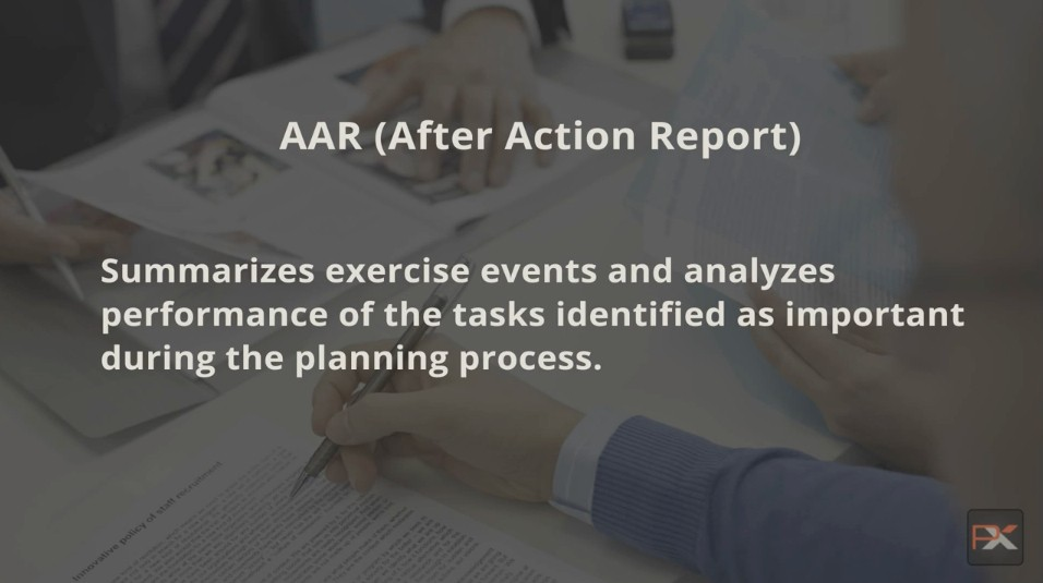 Crisis Exercise – The After Action Report